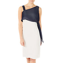 Buy Jacques Vert Asymmetric Contrast Dress, Cream/Multi Online at johnlewis.com