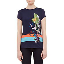 Buy Ted Baker Immyeni Tropical Oasis Fitted T-Shirt, Navy Online at johnlewis.com