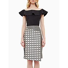 Buy Ted Baker Perui Frill Detail Bardot Top Online at johnlewis.com