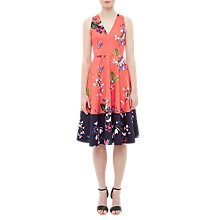 Buy Ted Baker Esselle Tropical Oasis Dress, Mid Red Online at johnlewis.com