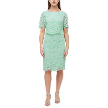 Buy Jacques Vert Cape Bodice Lace Dress, Green Online at johnlewis.com