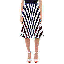 Buy Ted Baker Alliee Rowing Stripe Pleated Midi Skirt, Navy Online at johnlewis.com