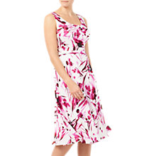 Buy Jacques Vert Soft Print Dress, Bright Pink Online at johnlewis.com