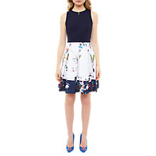 Buy Ted Baker Tropical Oasis Bodice Dress, Navy Online at johnlewis.com