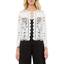 Buy Ted Baker Dalmay Lace Panel Cropped Jacket Online at johnlewis.com