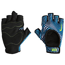Buy Nike Women's Fit Training Gloves, Blue/Multi Online at johnlewis.com