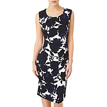 Buy Precis Petite Shadow Floral Dress, Blue/Multi Online at johnlewis.com