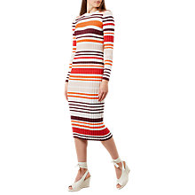 Buy Hobbs Ria Dress, Ivory/Multi Online at johnlewis.com