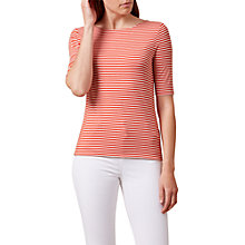 Buy Hobbs Violette Ballet Back Top, Flame Orange Online at johnlewis.com