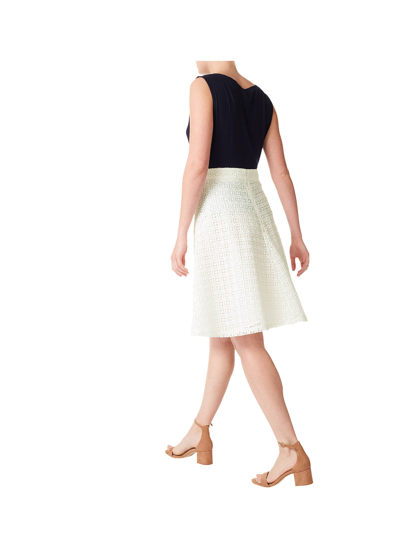 0e096b8d17 ... Buy Precis Petite Lace Midi Skirt, White, 6 Online at johnlewis.com ...