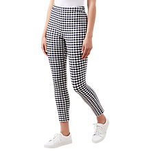 Buy Hobbs Marlowe Capri Trousers, Navy/White Online at johnlewis.com