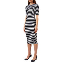 Buy Hobbs Bridget Midi Dress, Navy/White Online at johnlewis.com