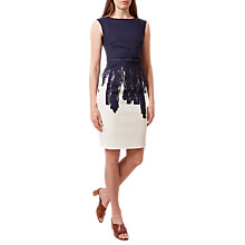 Buy Hobbs Lena Dress, Navy/Ivory Online at johnlewis.com