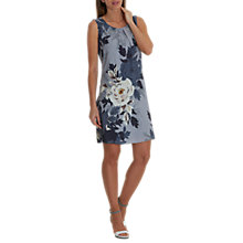 Buy Betty Barclay Garden Print Dress, Multi/Dusk Blue/Black Online at johnlewis.com