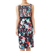 Buy Precis Petite Cotton Sateen Dress, Multi/Black Online at johnlewis.com