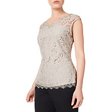 Buy Precis Petite Bea Lace Top, Mid Neutral Online at johnlewis.com
