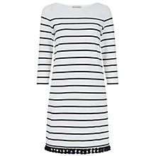 Buy Hobbs Sally Tassel Dress, Navy/Ivory Online at johnlewis.com