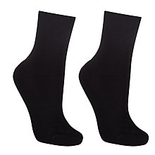 Buy John Lewis Organic Cotton Blend Roll Top Socks, Pack of 2 Online at johnlewis.com