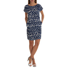 Buy Betty & Co. Graphic Print Dress, Classic Blue/White Online at johnlewis.com