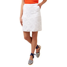 Buy Hobbs Michaela Skirt, Snow White Online at johnlewis.com