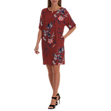 Buy Betty & Co. Floral Printed Dress, Dark Red Online at johnlewis.com