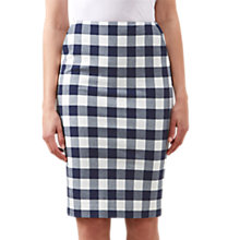 Buy Hobbs Atrani Skirt, Navy/White Online at johnlewis.com