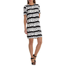 Buy Betty & Co. Ostrich Print Dress, White/Black Online at johnlewis.com