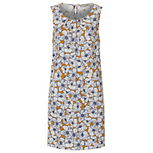 Buy Betty & Co. Floral Print Dress, Brass/White Online at johnlewis.com