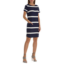 Buy Betty & Co. Textured Striped Dress, Classic Blue/White Online at johnlewis.com