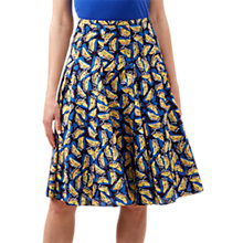 Buy Hobbs Melina Skirt, Navy/Multi Online at johnlewis.com