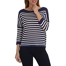 Buy Betty Barclay Knitted Pullover, White/Classic Blue Online at johnlewis.com