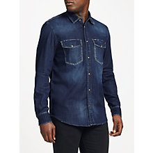 Buy Diesel D-Rooke Shirt, Dark Blue Online at johnlewis.com