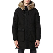 Buy Diesel W-Folk Coat, Black Online at johnlewis.com