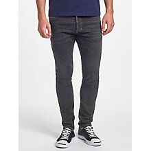 Buy Diesel Tepphar Jean, Washed Black Online at johnlewis.com