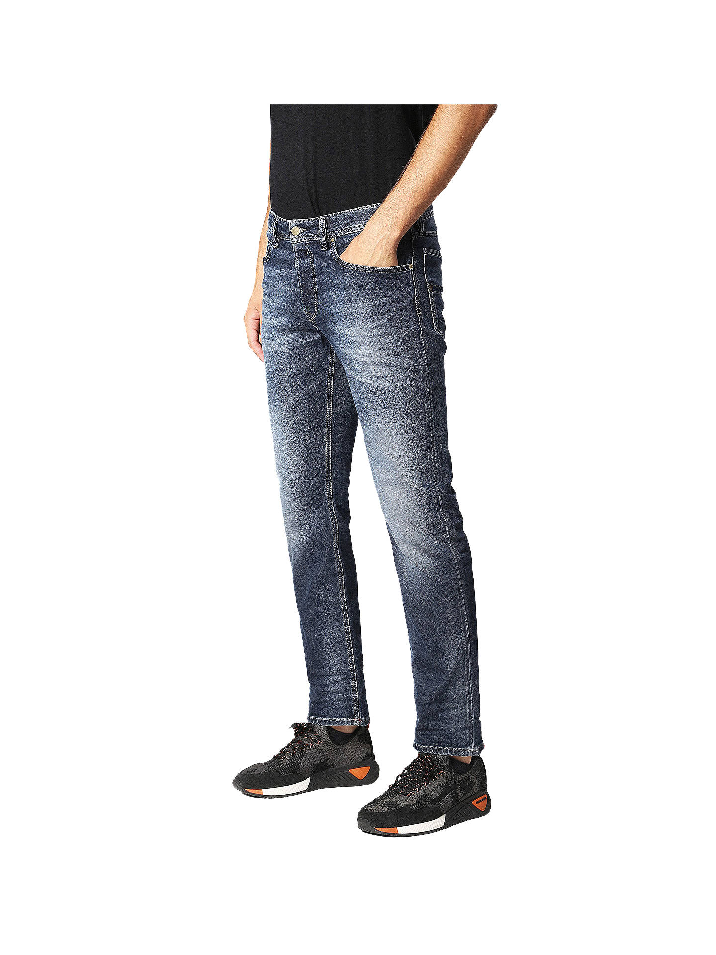 BuyDiesel Thommer Jeans, Washed Indigo, 30S Online at johnlewis.com