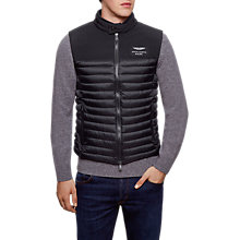Buy Hackett London AMR Gilet, Black Online at johnlewis.com