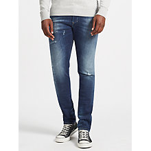 Buy Diesel Tepphar Denim Jeans, Mid Blue Online at johnlewis.com