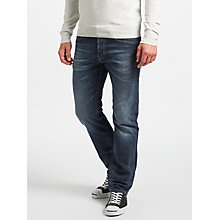 Buy Diesel Waykee Straight Jeans, 084KW, Washed Indigo Online at johnlewis.com