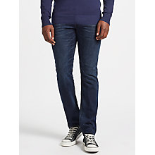 Buy Diesel Buster Tapered Jeans, Dark Wash 857Z Online at johnlewis.com