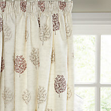 Buy John Lewis Mini Tree Lined Pencil Pleat Curtains, Red / Multi Online at johnlewis.com