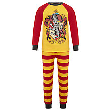 Buy Harry Potter Children's Gryffindor Pyjamas, Yellow/Red Online at johnlewis.com