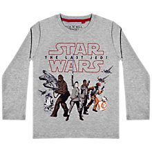 Buy Star Wars Children's Episode 8 T-Shirt, Grey Online at johnlewis.com