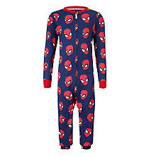 Buy Spider-man Children's All-Over Print Onesie, Navy Online at johnlewis.com