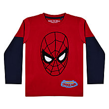 Buy Spiderman Boys' Long Sleeved Printed T-Shirt, Red Online at johnlewis.com