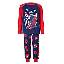 Buy Spider-Man Children's Printed Pyjamas, Navy Online at johnlewis.com