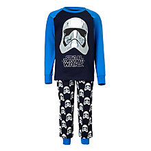 Buy Star Wars Children's Stormtrooper Pyjamas, Blue Online at johnlewis.com