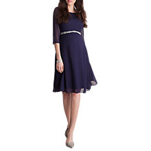 Buy Séraphine Luxe Giselle Maternity Dress, Navy Online at johnlewis.com