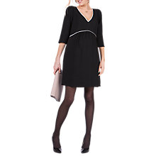 Buy Séraphine Charlotte V Neck Maternity Dress, Black Online at johnlewis.com