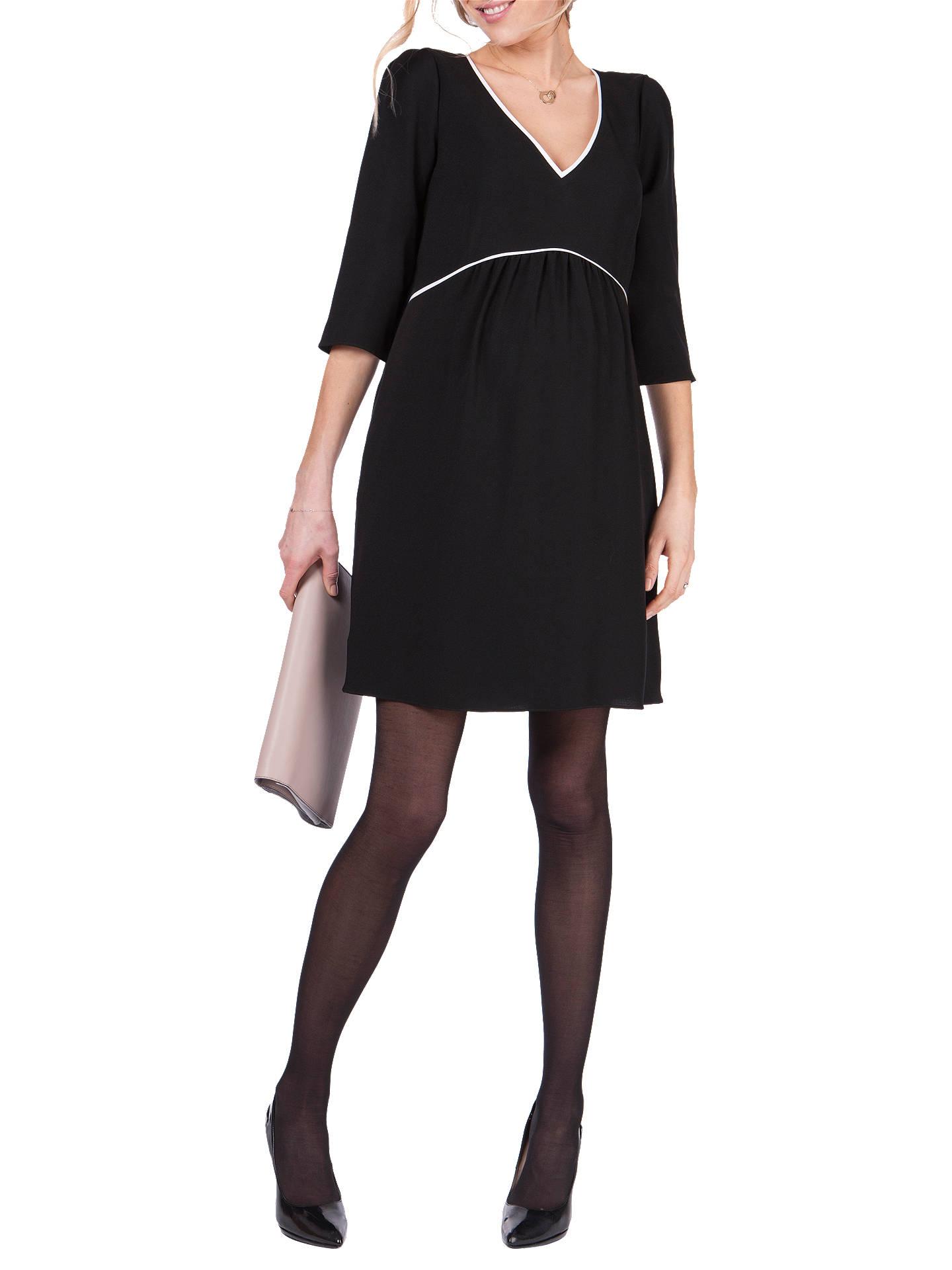 10932fcda40c1 Buy Séraphine Charlotte V Neck Maternity Dress, Black, 8 Online at  johnlewis.com ...