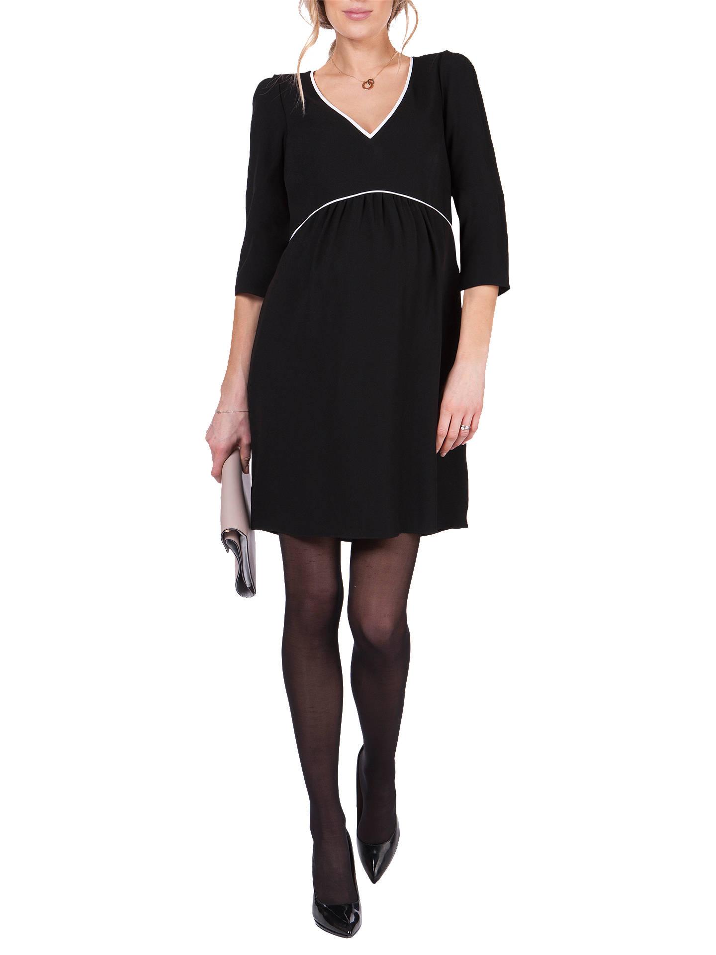 09879ba65b5dd ... Buy Séraphine Charlotte V Neck Maternity Dress, Black, 8 Online at  johnlewis.com
